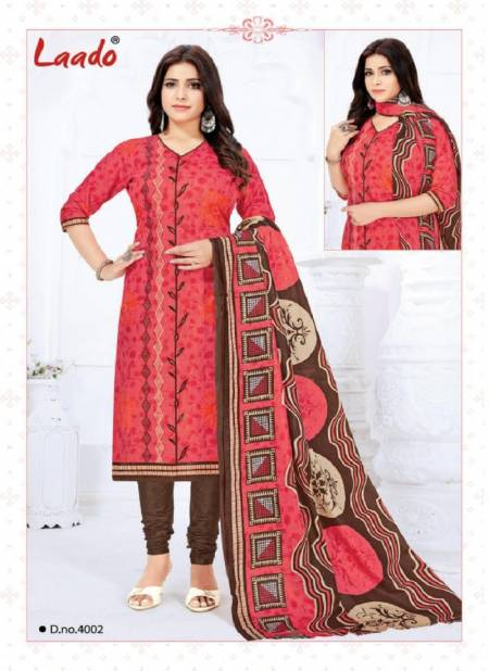 Laado Priyanka Vol 4 Latest Pure Cotton Printed Casual Wear Dress Material Collection