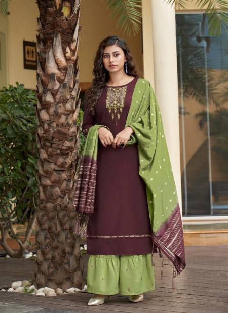 Ladies Flavour Ruhana 1 Festive Wear Maslin With Embroidery With Heavy Khatli Work Ready Made Collection