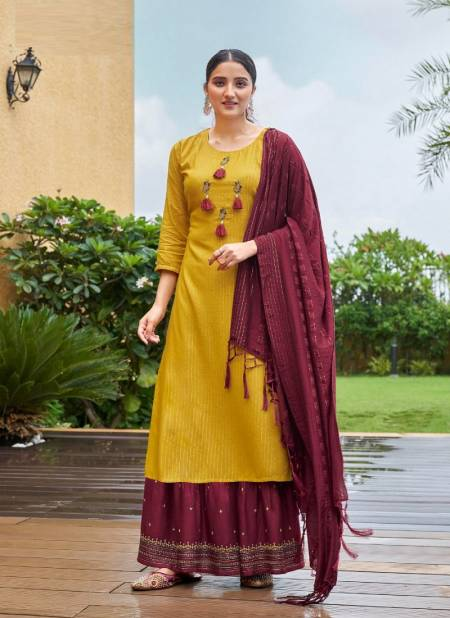 Ladies Flavour Ruhana 2 Festive Wear Rayon With Embroidery And Khatli Work Salwar Kameez Collection