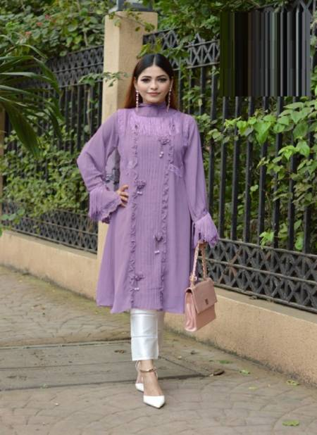 Laiba Am 94 Blushing Beauty Fancy Stylish Designer Georgette Wear Top With Bottom Collection