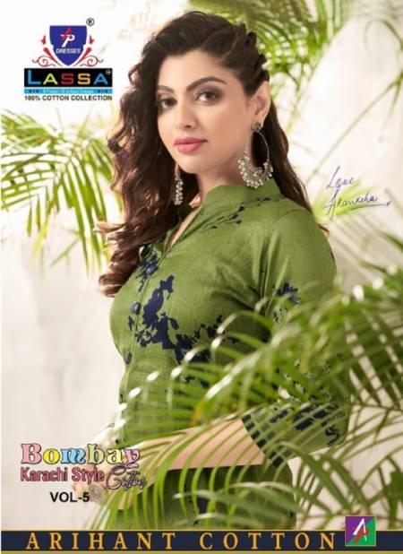 Lassa Bombay Cotton 5 Latest Fancy Designer Casual Regular Wear Karachi Special Cotton Printed Dress Material Collection