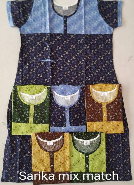 Latest Exclusive Designer Night Wear Cotton Printed Nighty Collection