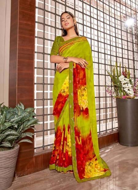 Laxmina Jodha Georgette Regular Wear Printed Latest Saree Collection