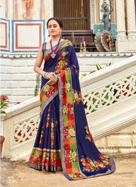 Laxminam Shruthi Casual Wear Georgette Latest Fancy Designer Saree Collection