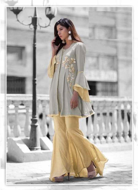 Laxuria Trendz 1144 Fancy Festive Wear Faux Georgette Tops With Bottom Collection