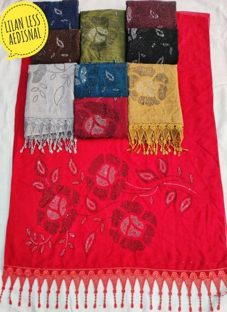 Lilan Flower 9 Latest Fancy Casual Wear Cotton Hijab Collection