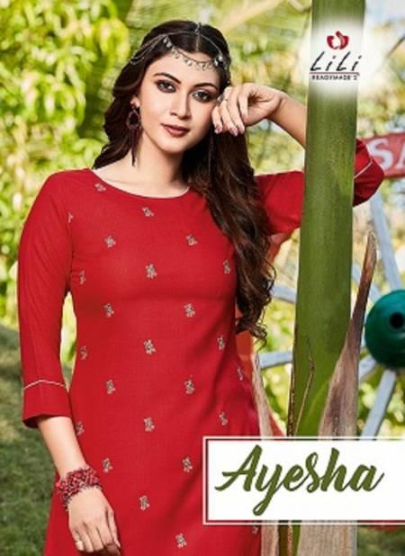 Lili Ayesha Latest Designer Casual Wear Slab Cotton Kurtis Collection