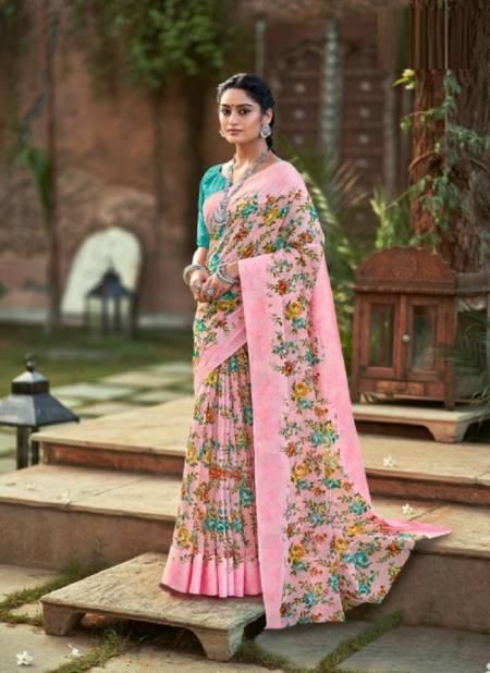 Lt Chitralekha Fancy Ethnic Wear Printed Georgette Designer Saree Collection