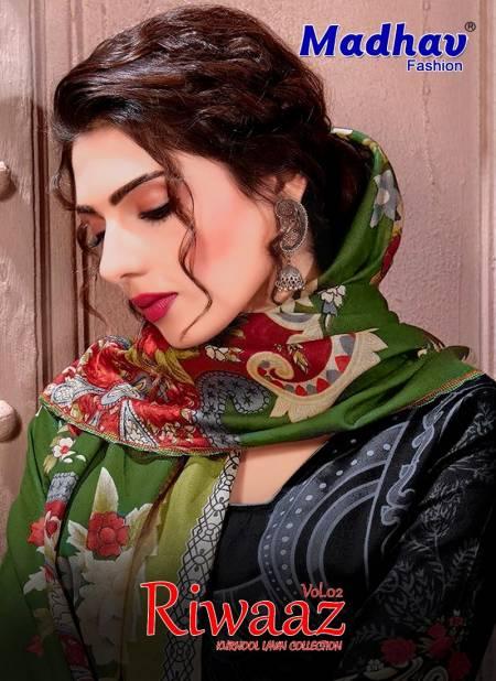 Madhav Fashion Riwaaz 2 Casual Wear Lawn Karachi Cotton Dress Material