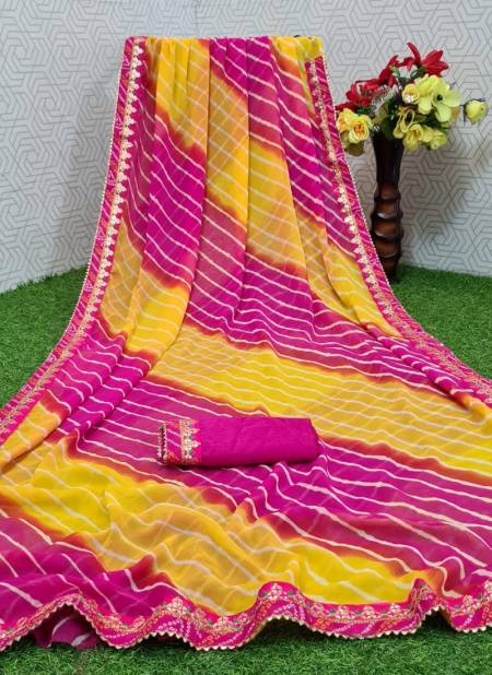 Mahek 40 Party Wear Fancy Designer Georgette Printed Saree Collection