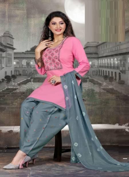 Manjeera Fashion Insta Festive Wear Stain Silk Ready Made Collection