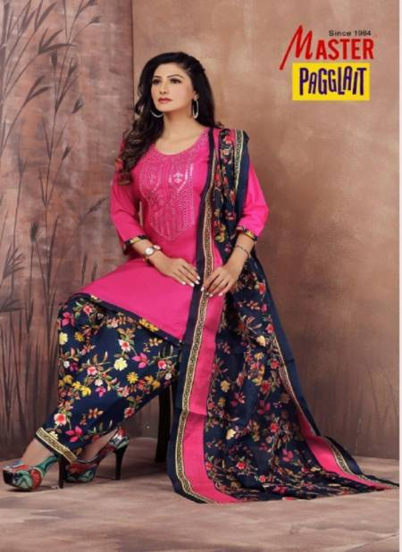 Master Pagglait Latest Fancy Casual Regular Wear Readymade Cotton Printed salwar Suit Collection