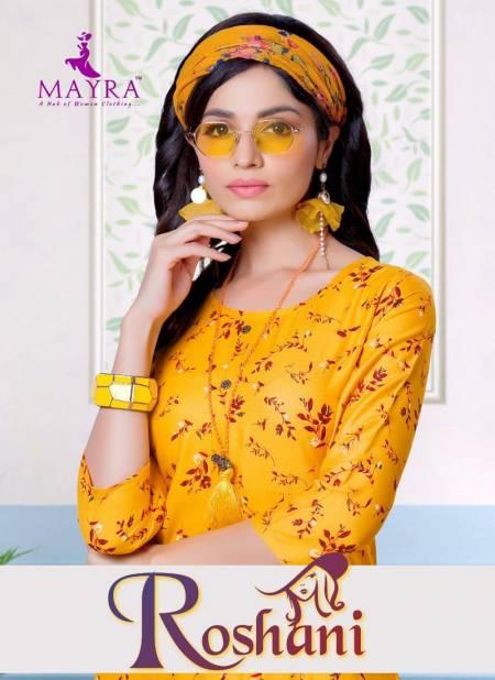 Mayra Roshani Latest Designer Rayon Print Party Wear Kurti Collection