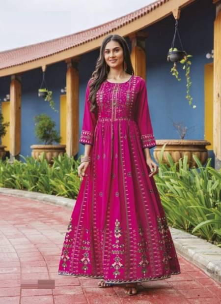 Mayree Flairy Fancy Ethnic Wear Silk Anarkali Designer Long Kurti Collection