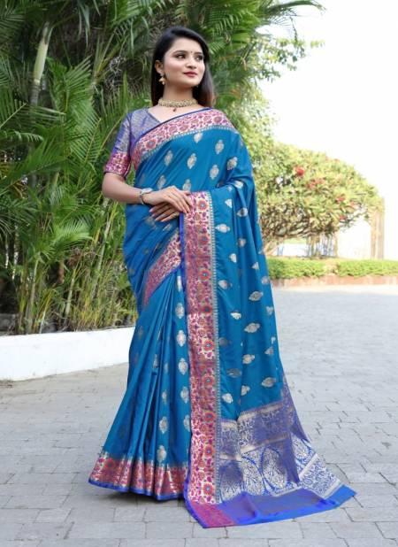 Meera 19 Party Wear Banarasi Silk Festive Wear Designer Printed Saree Collection
