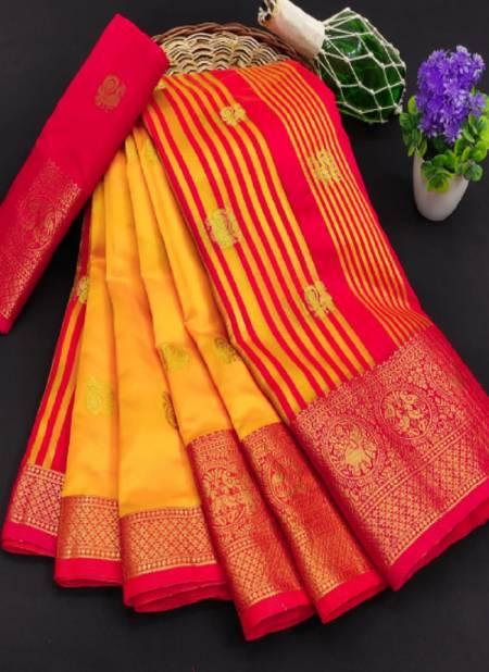Meera 35 Party Wear Banarasi Silk Printed Designer Saree Collection