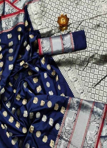 Meera 41 Party Wear Banarasi Silk Designer Worked Saree Collection