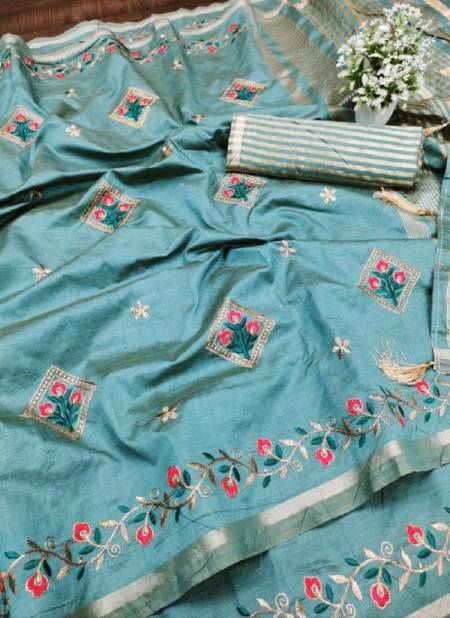 Meera 44Fancy Designer Party Wear Dhola Silk Latest Saree Collection
