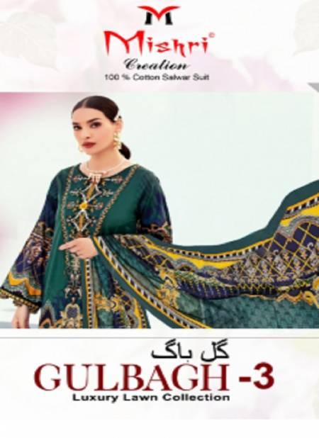 Mishri Creation Gulbagh 3 Luxury Lawn Casual Regular Wear Collection