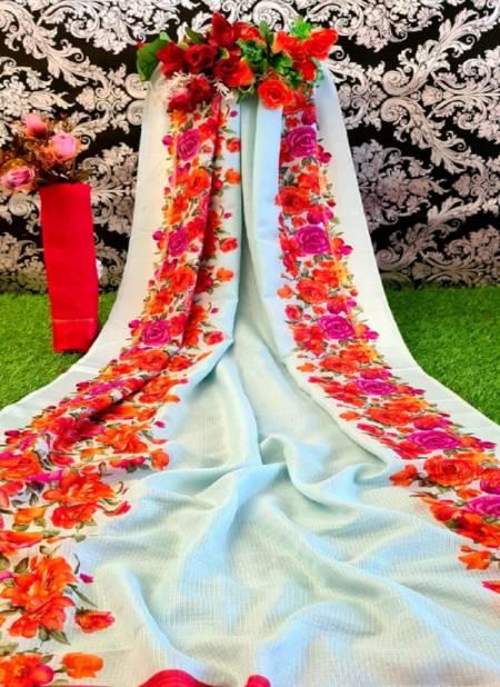 Monalisha 5 Casual Wear Designer Fancy Printed Linen Saree Collection
