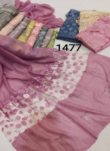 Multi Hijab 1477 Latest Fancy Casual Wear Hosiery Cotton Arabian Pallu Two Side Hijab Collection