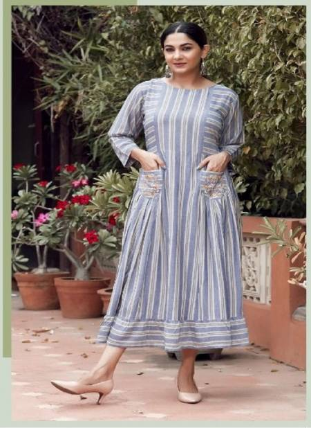 Nayra Parinika Fancy Ethnic Wear Designer Long Kurti Latest Collection