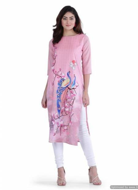 New Crape Kurti Collection With Designer Digital Printed and Three Fourth Seeves