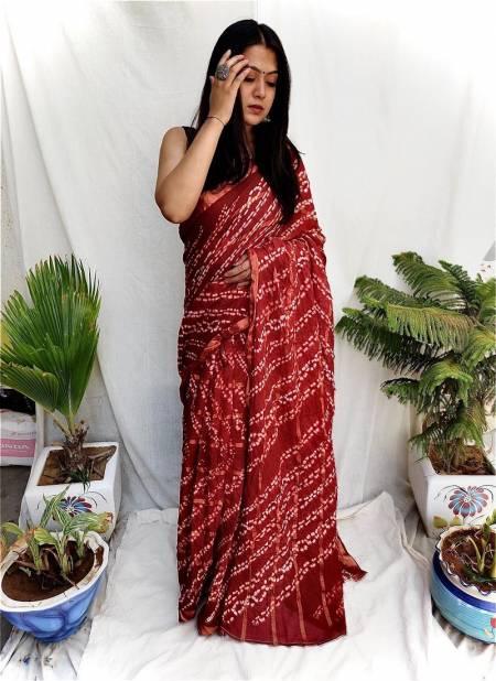 Niharika Silk 50 Casual Wear Leheriya Cotton Printed Sarees Collection
