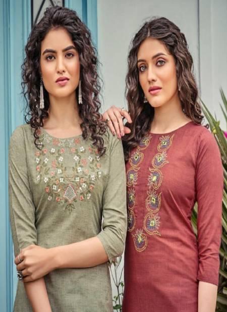 Poonam Bijiliji 2 Pure Cotton Ethnic Wear Embroidery Work Kurti Collection