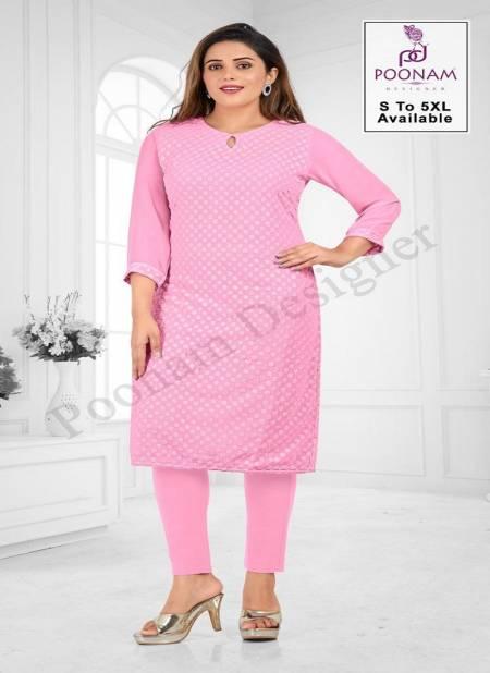 Poonam Rangrani Ethnic Wear Georgette Designer Kurtis Collection