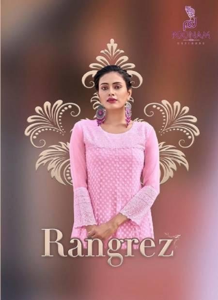 Poonam Rangrez Ethnic Wear Georgette Designer Kurti Collection