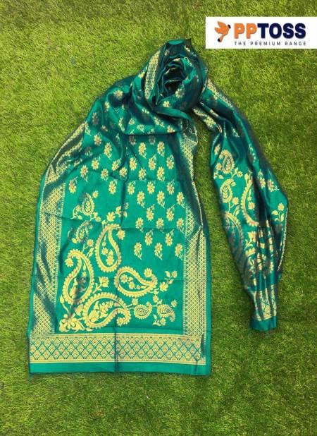 Pptoss Banarasi SIlk Dupatta 2 Fancy Latest Designer Festive Wear   Banarasi Silk Dupatta Collection