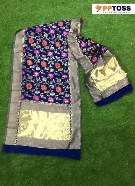 Pptoss Banarasi Silk Dupatta 3 Designer Printed Dupatta Collection