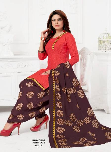 Princess Patiala 2 Printed Cotton Casual Wear Salwar Suit Ready Made Collection