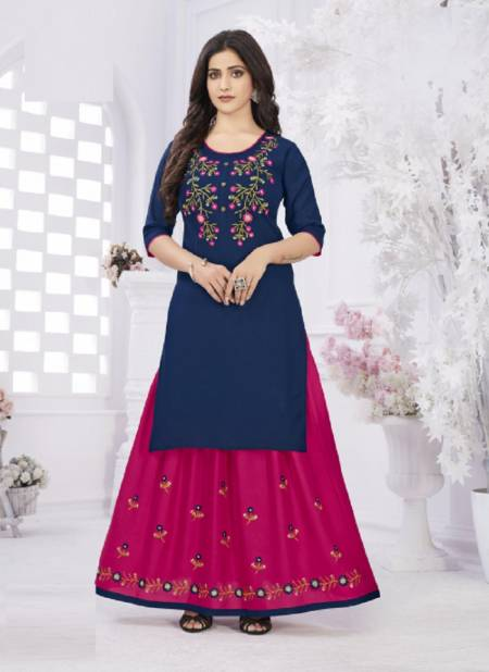 Raashi Devika Fancy Festive Wear Rayon Printed Top With Skirt Collection