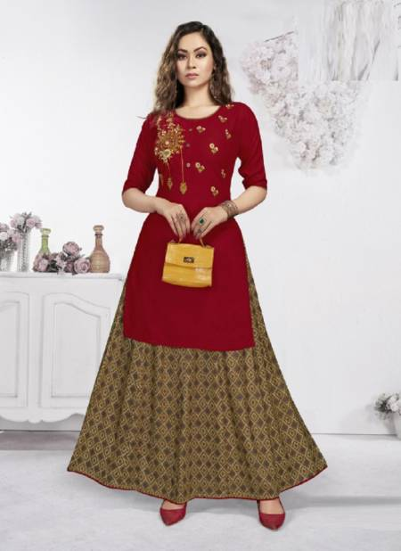 Raashi Padmini Rayon Fancy Ethnic Wear Top With Skirt Collection