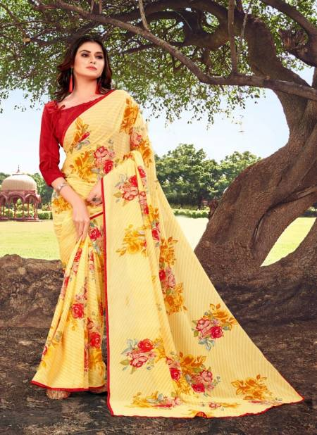 Rajyog Tamanna 3 Renial Printed With Lace Border Casual Wear Saree Collection