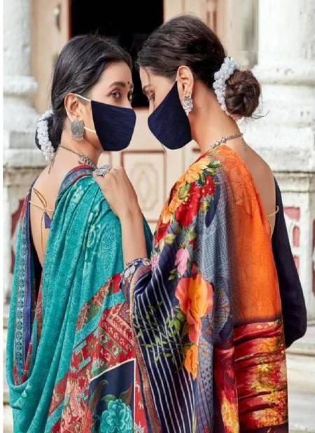 Rambha 20 Casual Wear Renial Printed Designer Latest Saree Collection