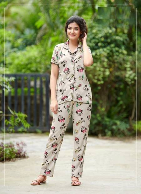 Rangjyot 201 Latest Night Wear Hosiery Cotton Printed Night Suit Collection