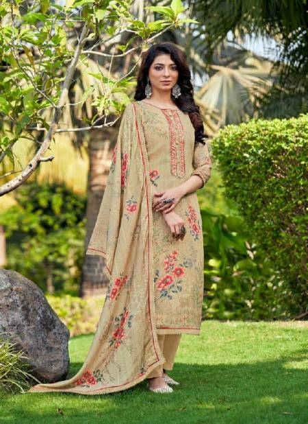 Rangoon Flower Valley Designer Festive Wear Heavy Muslin And Sequence Work With Pure Digital Print Ready Made Collection