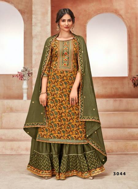 Rangoon Naira Exclusive Cotton Embroidery Work Heavy Wedding Wear Ready Made Collection