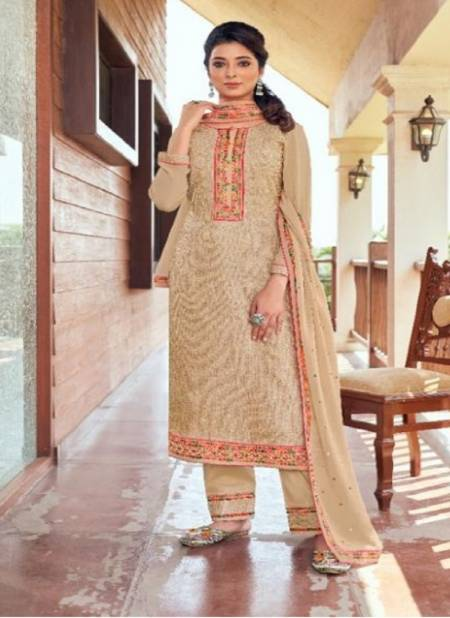 Rangoon Sabya Sachi Designer Festive Wear  luckhnowi work with Multi Color Embroidery Neck Ready Made Collection