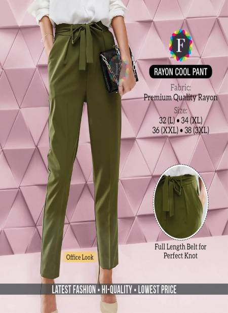 Rayon Cool Pant Premium Quality Fancy Party Daily Wear Bottom Collection