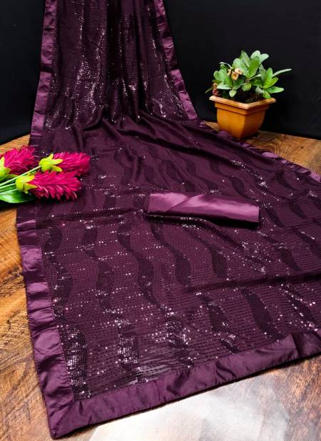 Rim Zim 1 Designer Sequence Soft Georgette Fancy Party Wear Sarees Collection