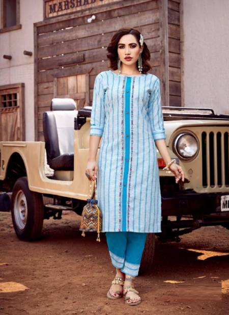 Riya Lime Light 3 Cotton Handloom Casual Wear Kurti With Bottom Collection