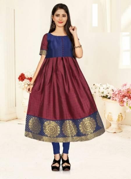 Rnx Kids Ethnic Wear Anarkali Long Kurti Latest Designer Collection