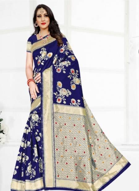 Ronisha Milky Latest Fancy Casual Wear Silk Designer Saree Collection