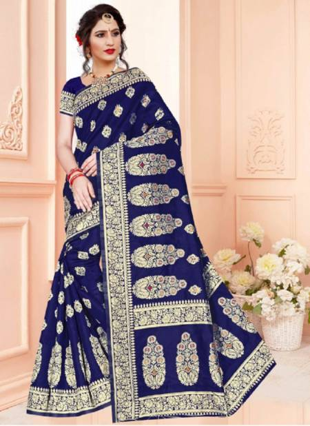 Ronisha Ricky Fancy Casual Wear Silk Designer Saree Collection