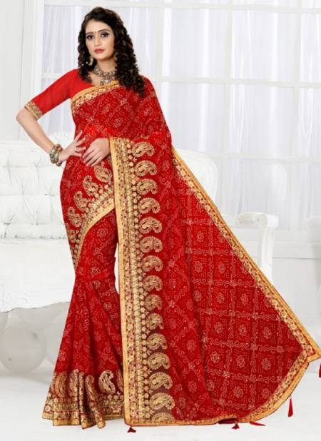 Ronisha Summer Festive Wear Georgette Embroidery Work Saree Collection