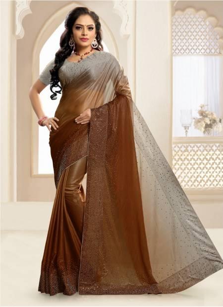 Ronisha Trade Fancy Party Wear Lycra Designer Saree Collection
